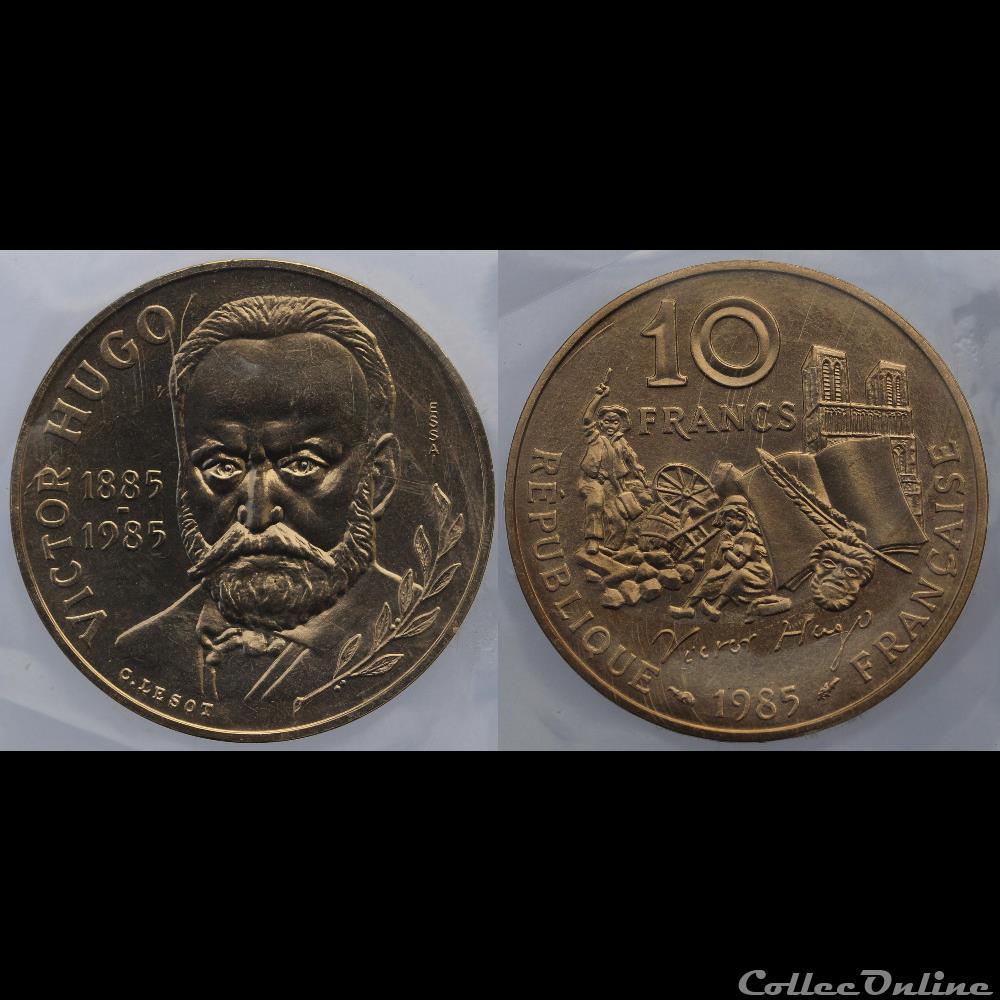 monnaie france moderne lesot c 10 frs 1985 tranche a essai