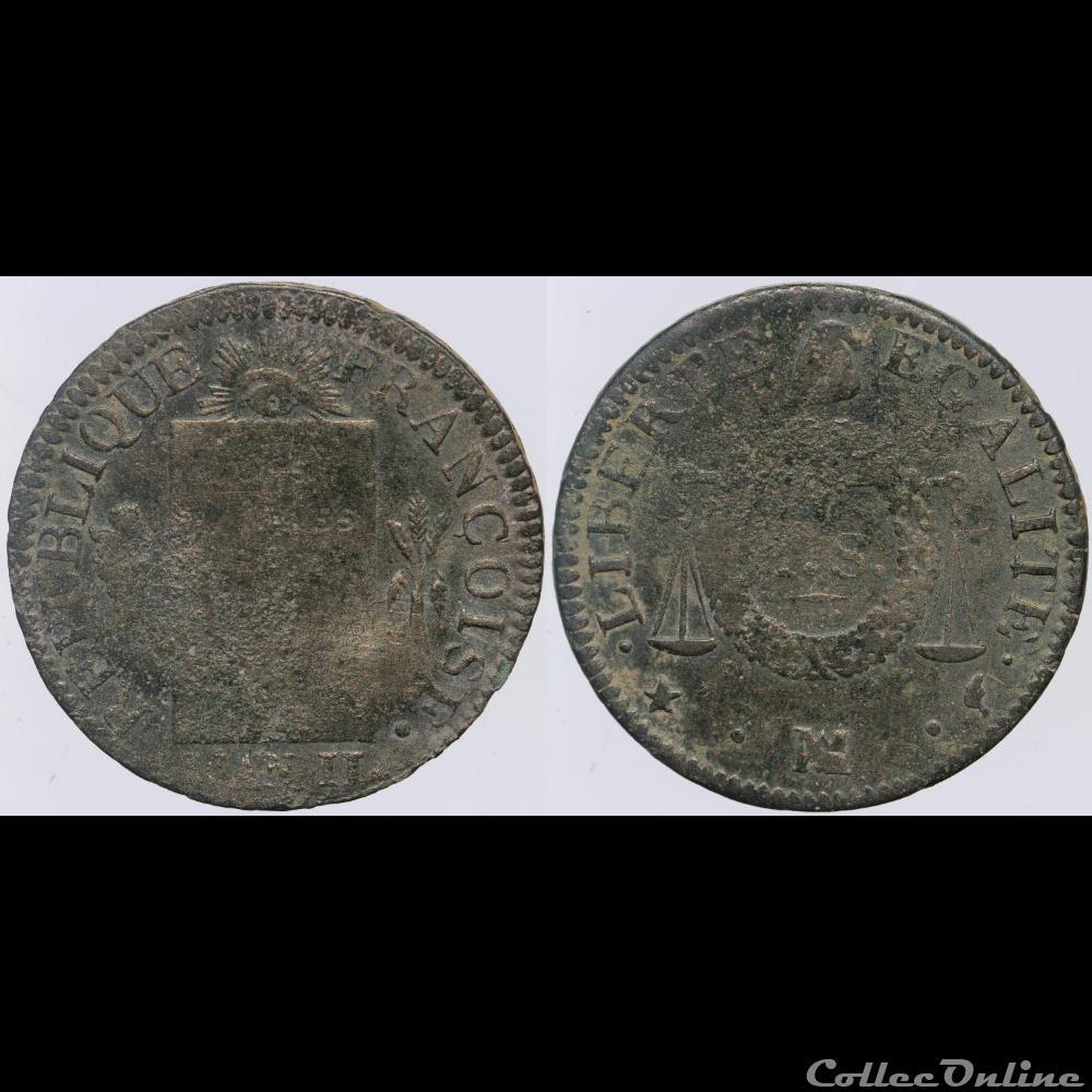 monnaie france moderne convention 1 sol non date marseille