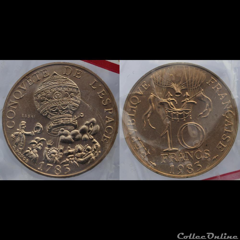 monnaie france moderne ponce d 10 frs 1983 tranche a essai