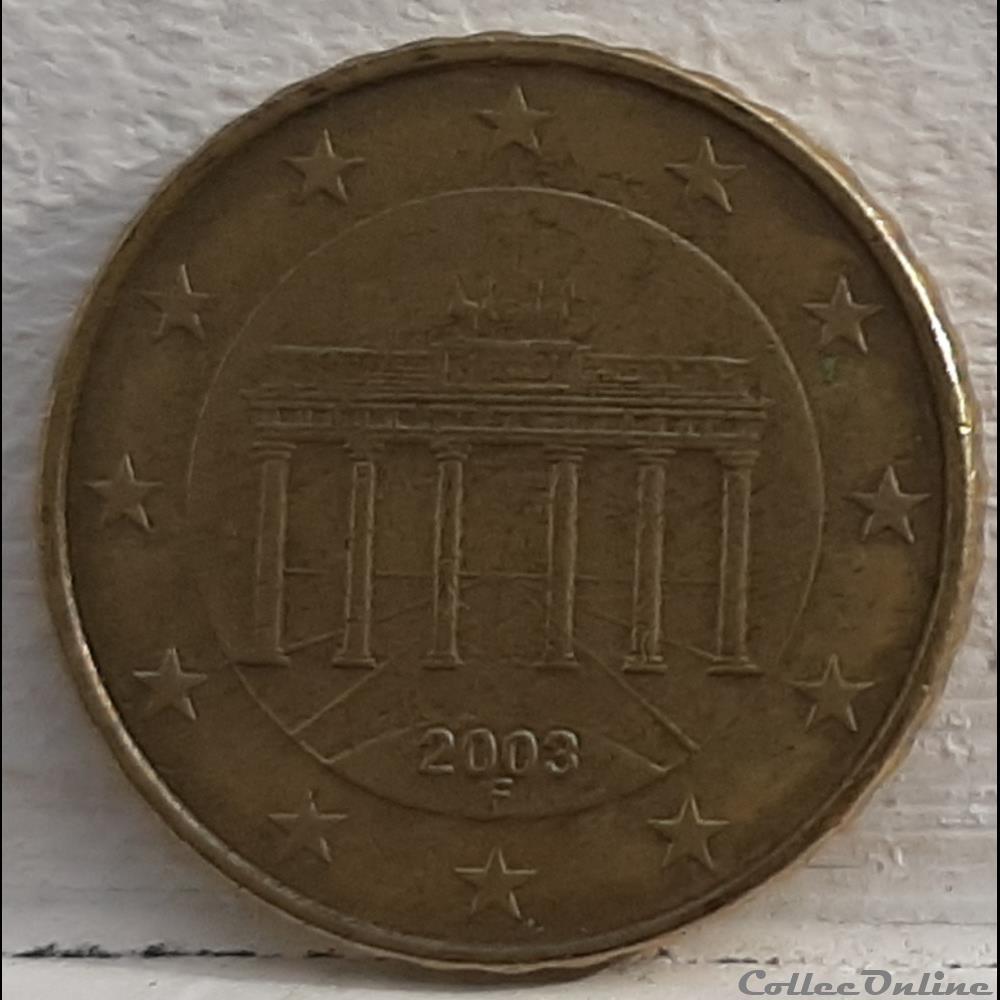 monnaie euro allemagne 2003 f 10 cents