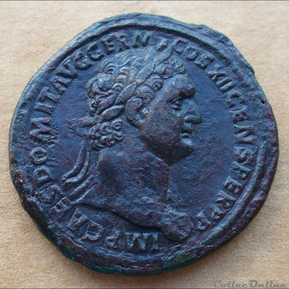 monnaie antique romaine domitien sesterce