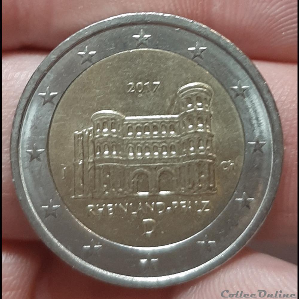 monnaie allemagne 2017 d 2 euros la porta nigra