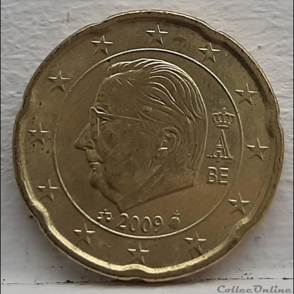 monnaie euro a belgique 2009 20 cents