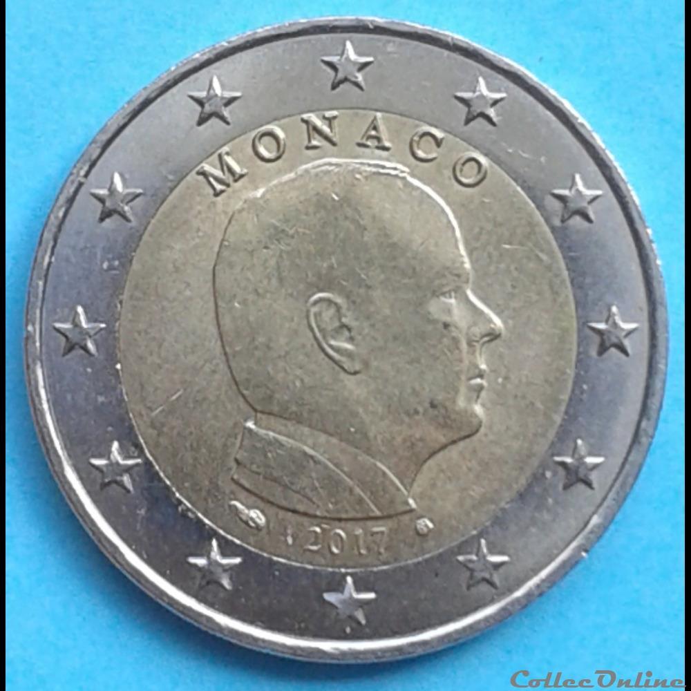 monnaie monaco 2017 2 euros