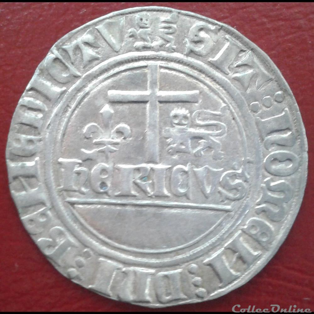 monnaie france 28 henri vi blanc aux ecus
