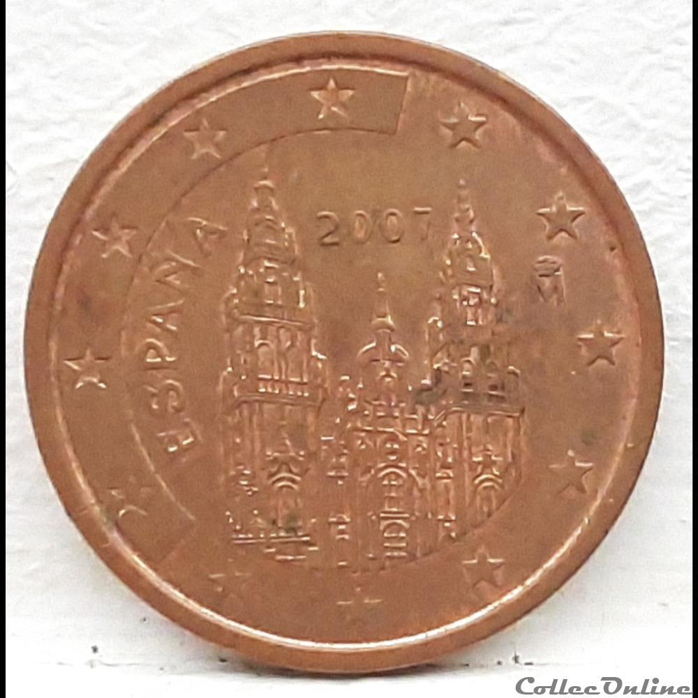 monnaie euro espagne 2007 2 cents