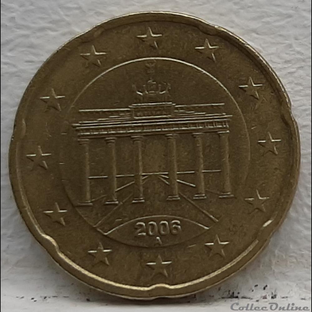 monnaie euro allemagne 2006 a 20 cents