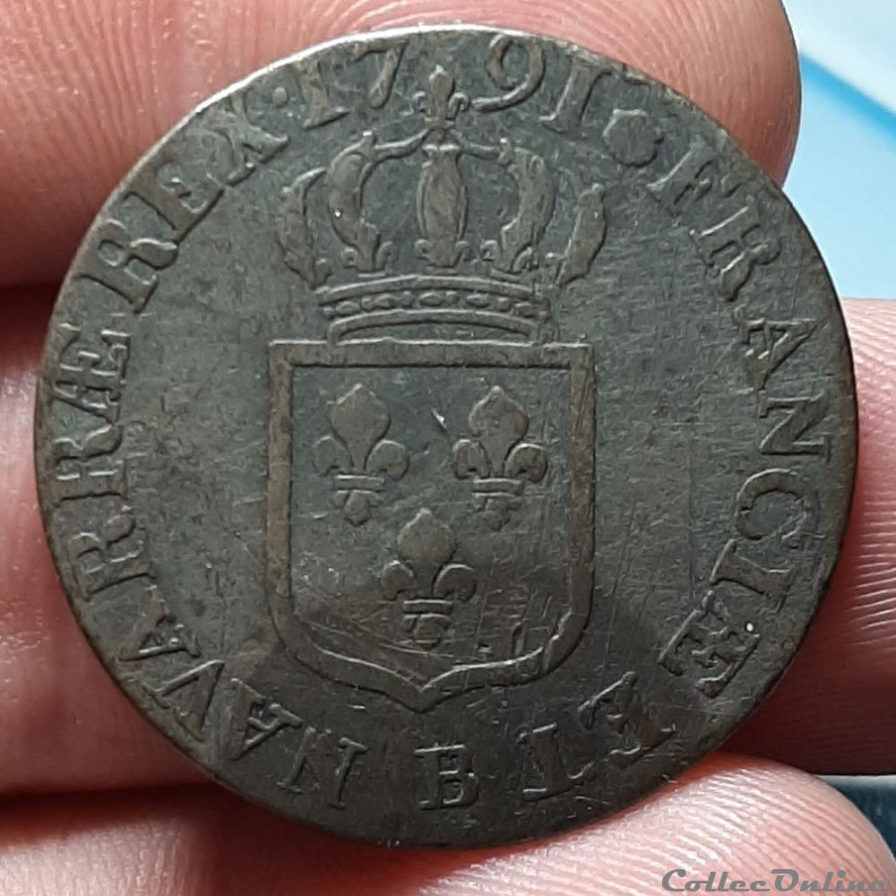 monnaie france royale louis xvi sol a ecu 1791 1er semestre
