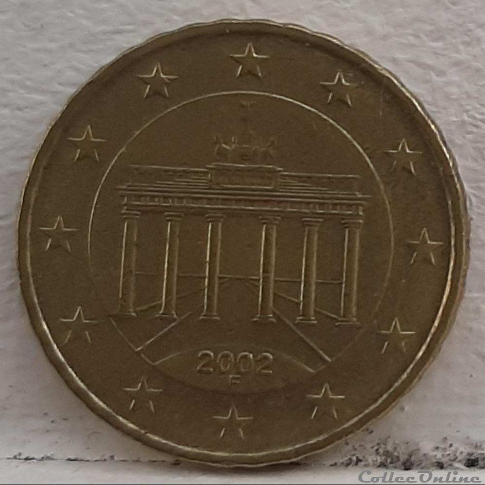monnaie euro allemagne 2002 f 10 cents