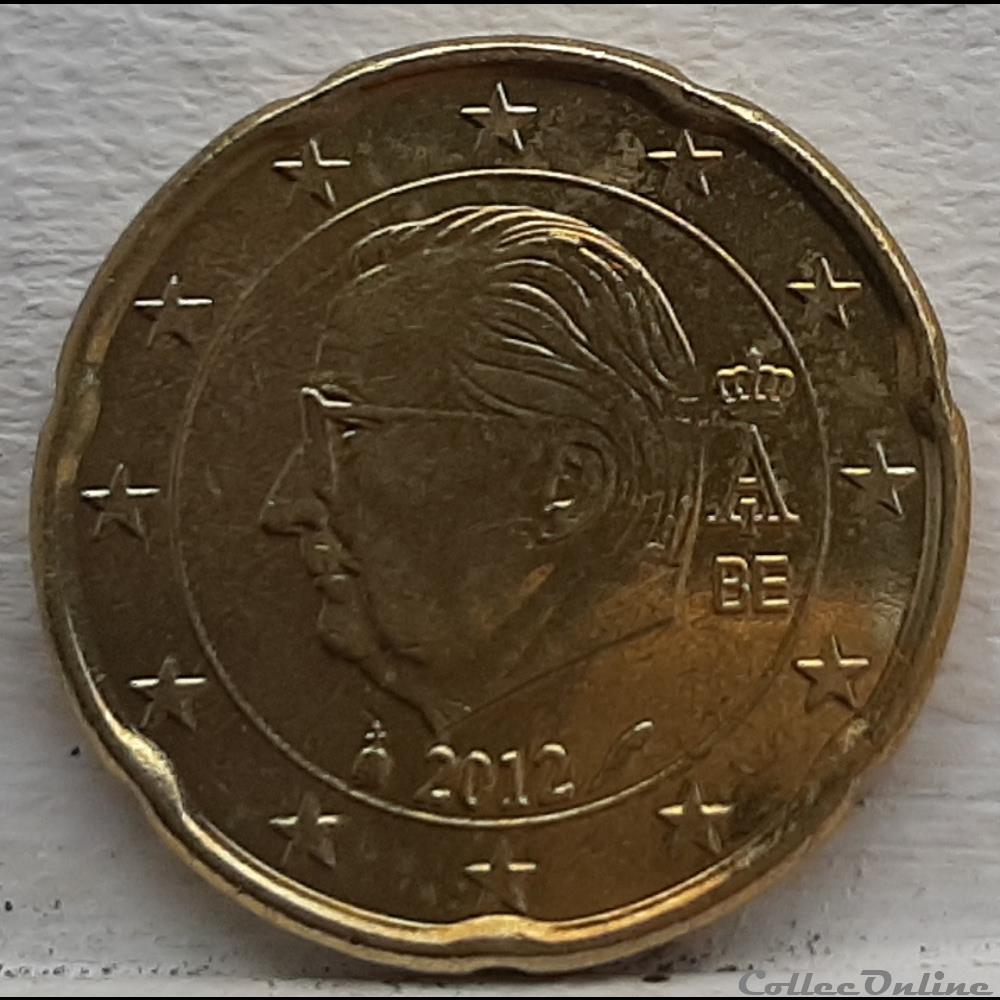 monnaie euro a belgique 2012 20 cents