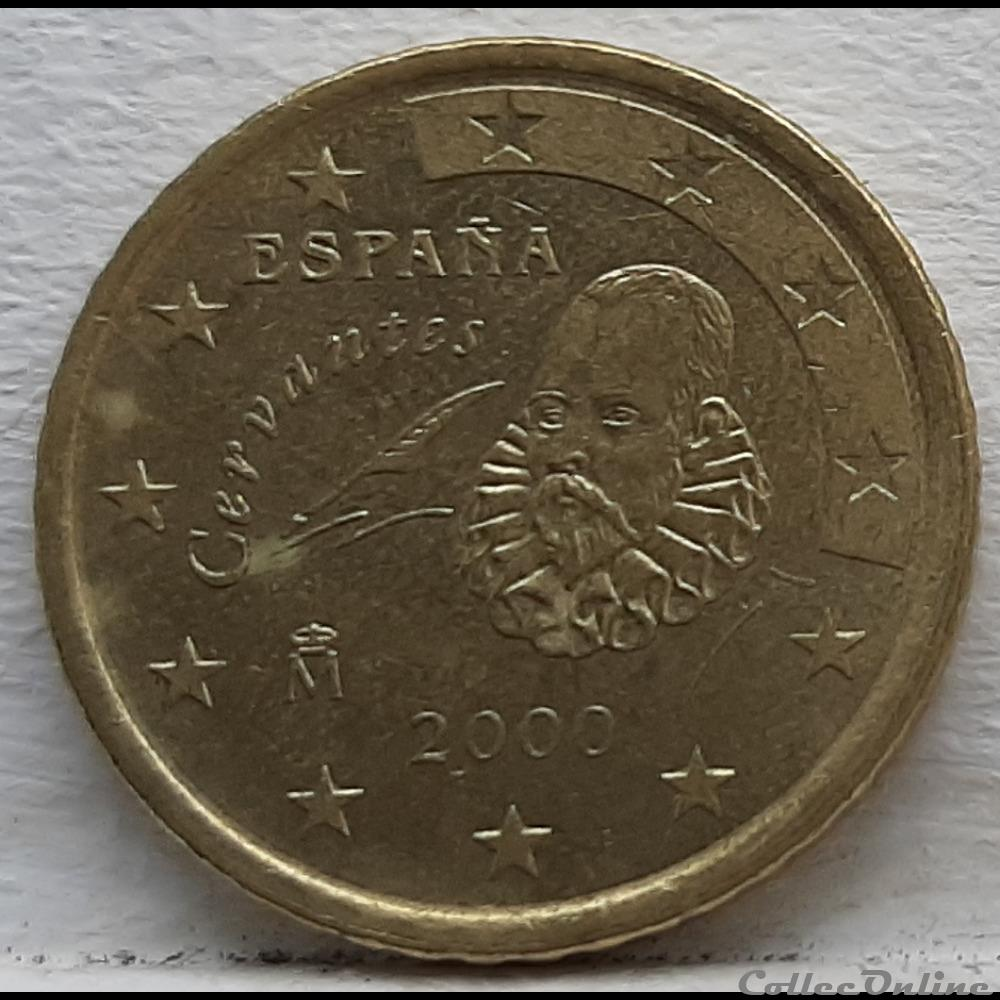 monnaie euro espagne 2000 50 cents