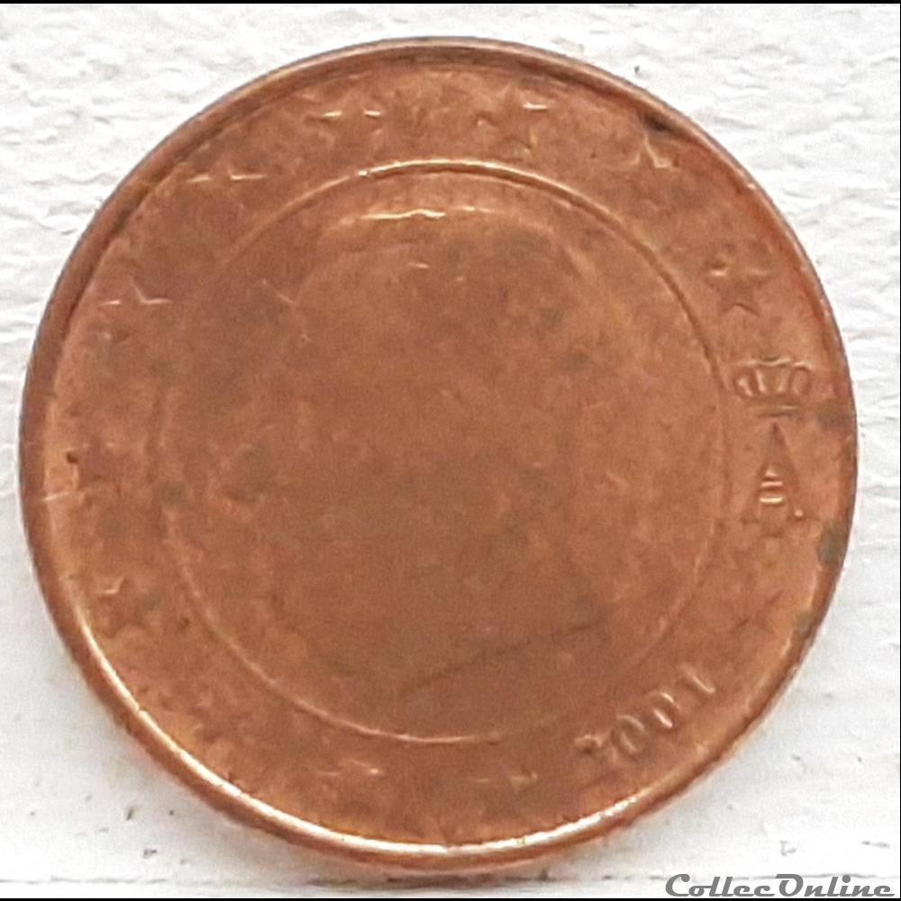 monnaie euro a belgique 2001 1 cent