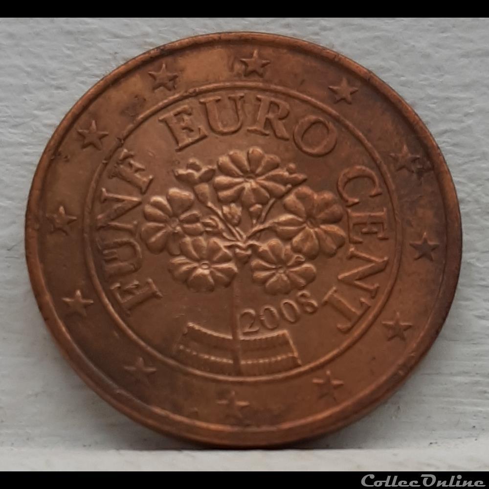 monnaie euro autriche 2008 5 cents