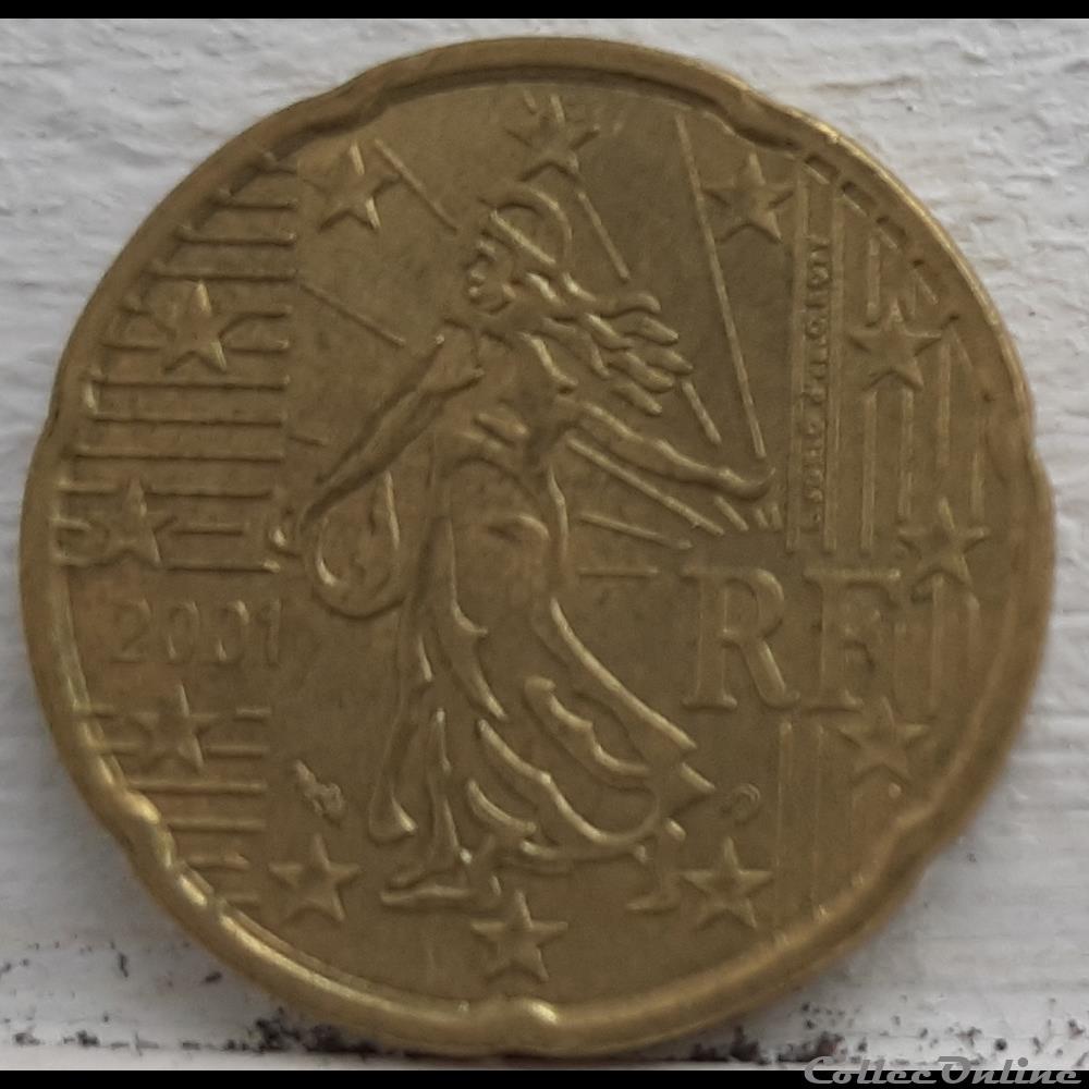 monnaie euro france 2001 20 cents