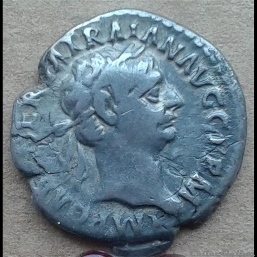 monnaie antique romaine trajan denier la paix