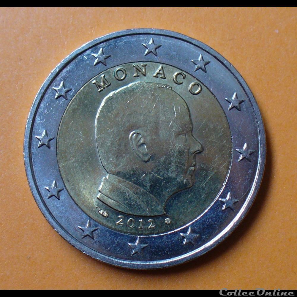 monnaie monaco 2012 2 euros