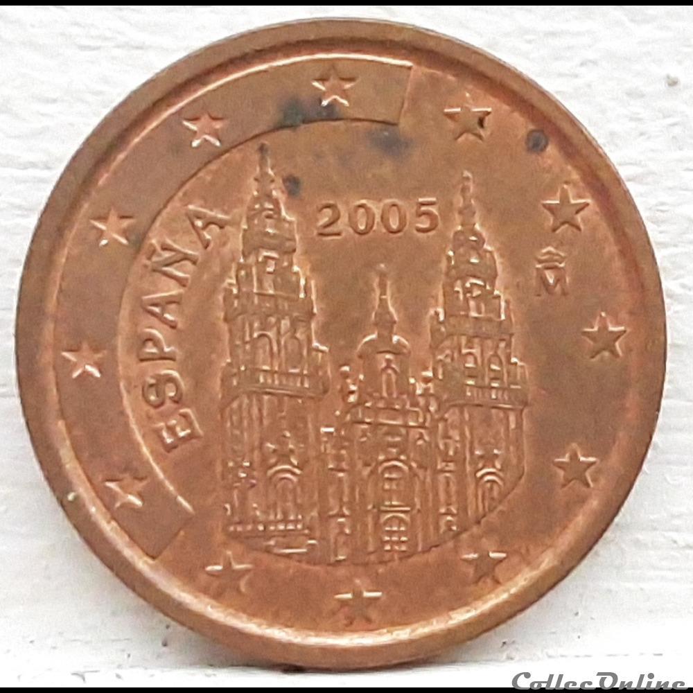 monnaie euro espagne 2005 2 cents