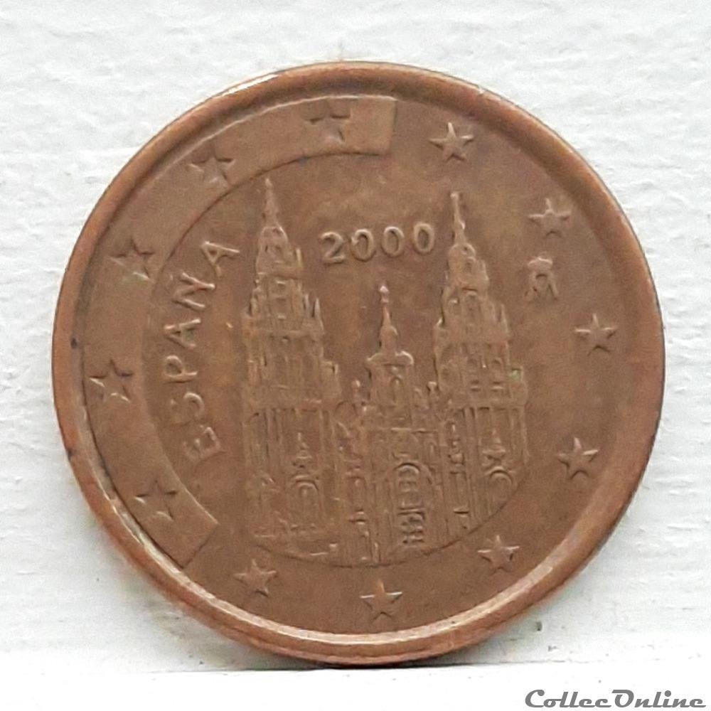 monnaie euro espagne 2000 5 cents