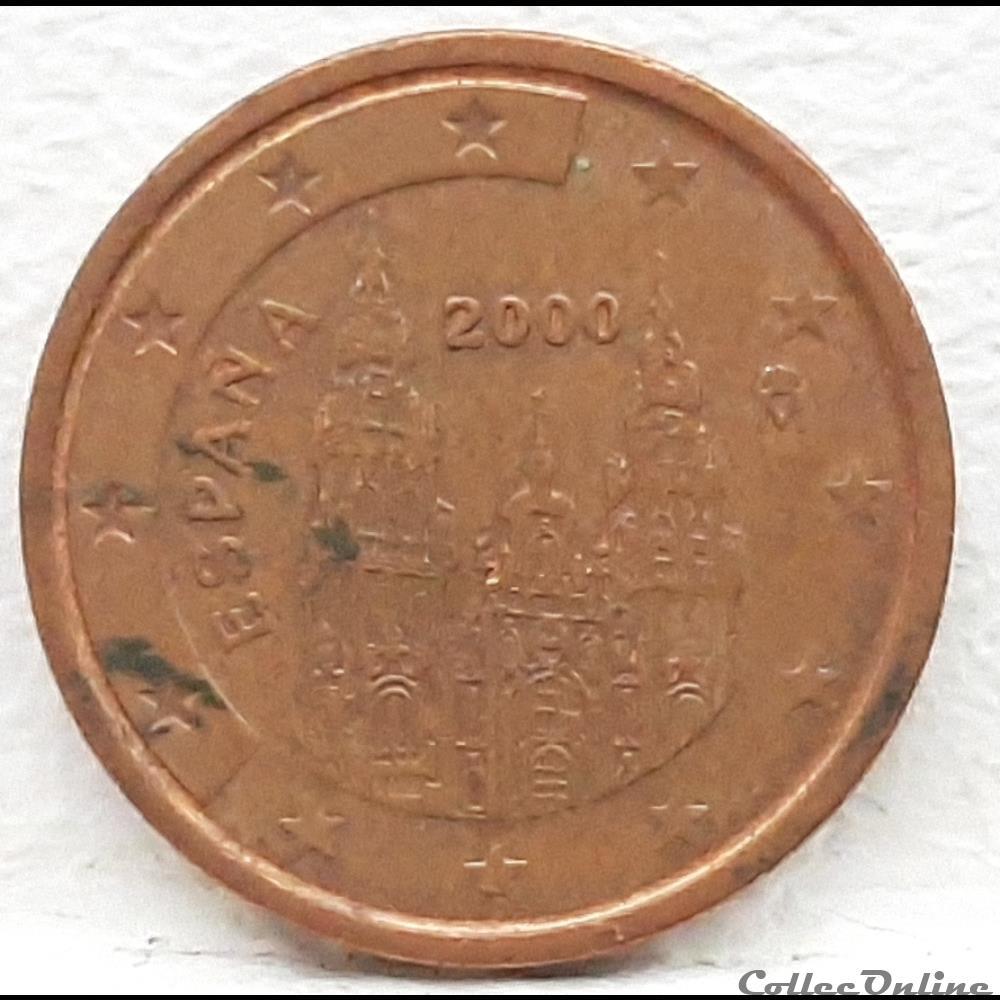 monnaie euro espagne 2000 2 cents