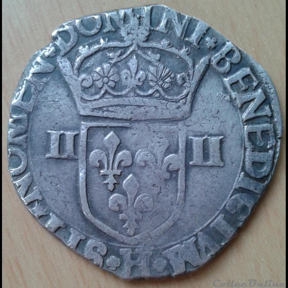 monnaie france royale 1602 h 1 4 ecu