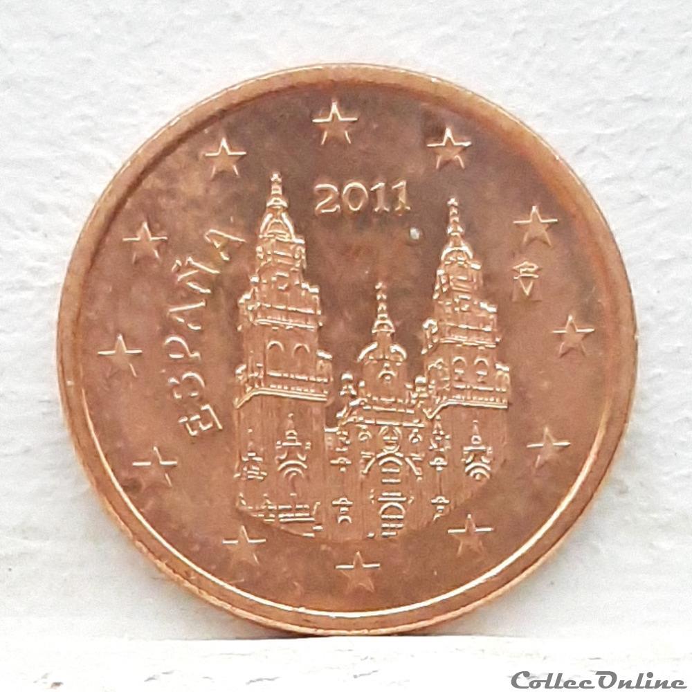 monnaie euro espagne 2011 5 cents