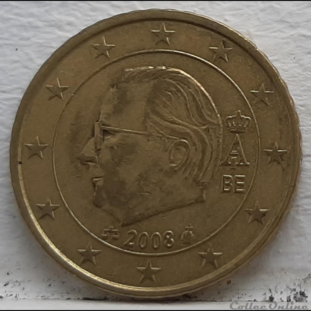 monnaie euro a belgique 2008 50 cents