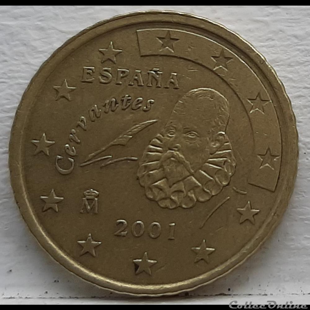 monnaie euro espagne 2001 50 cents