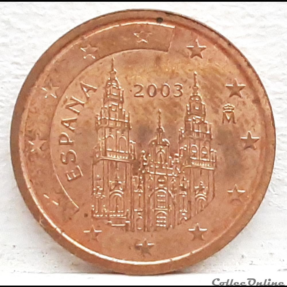 monnaie euro espagne 2003 2 cents