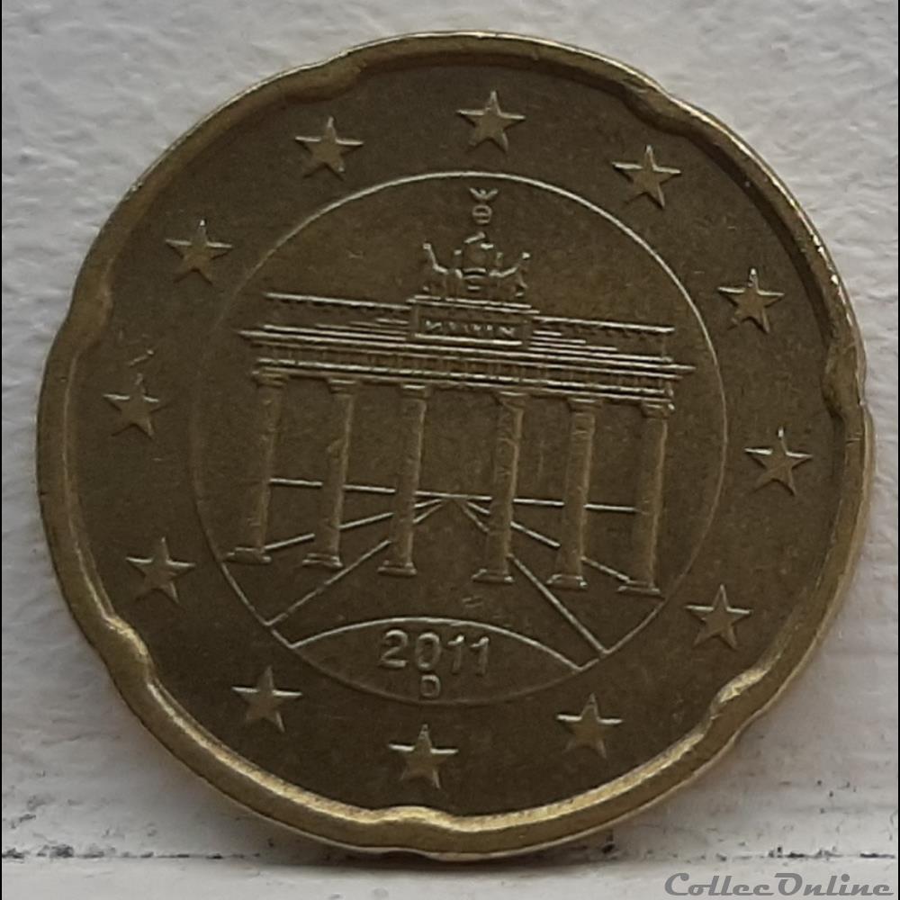 monnaie euro allemagne 2011 d 20 cents