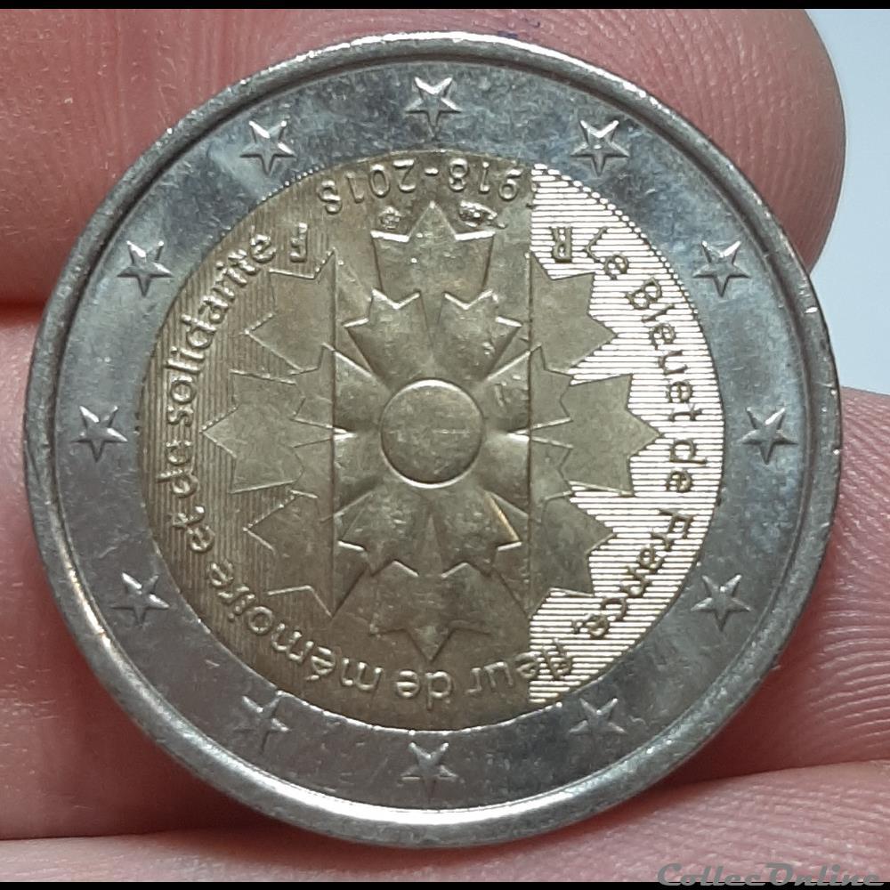 monnaie france 2018 2 euros les bleuets
