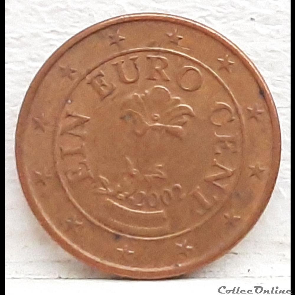 monnaie euro autriche 2002 1 cent