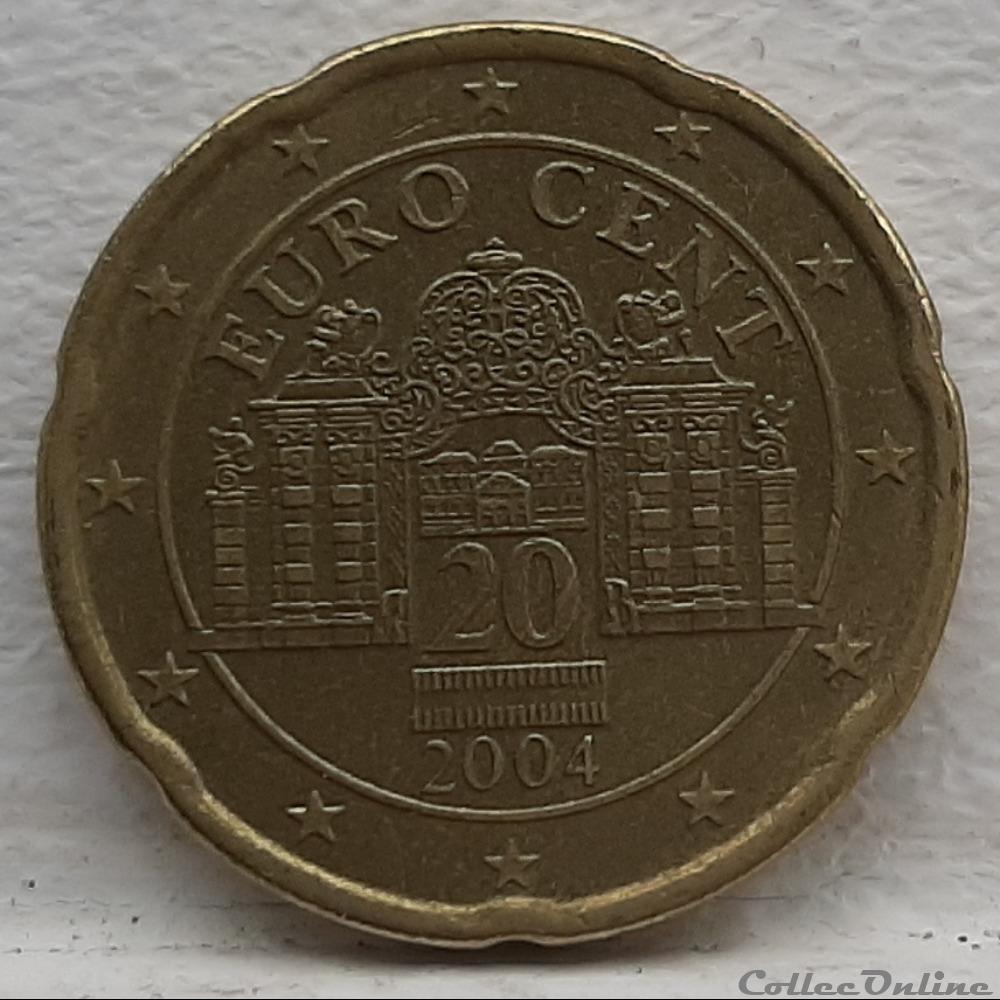 monnaie euro autriche 2004 20 cents