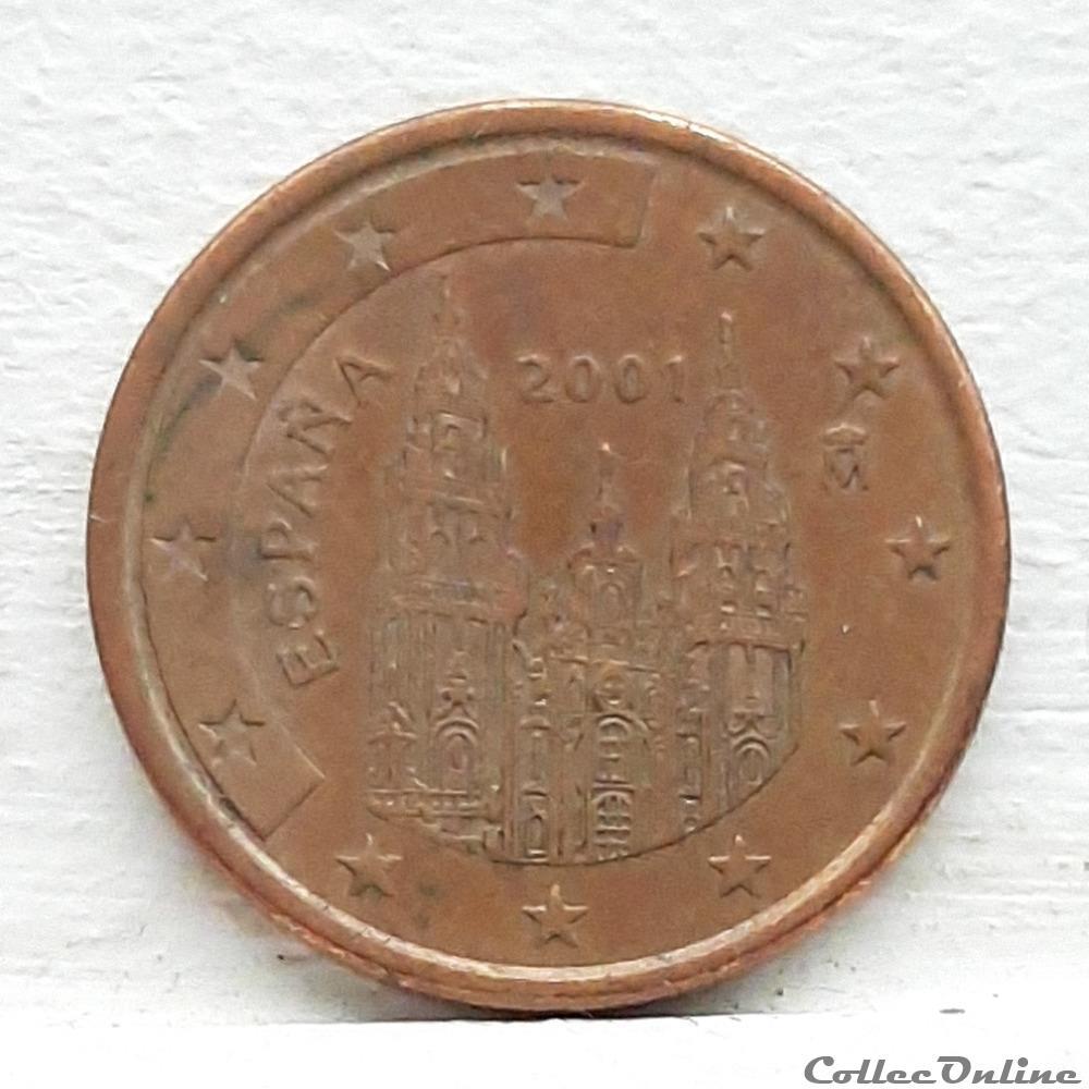 monnaie euro espagne 2001 5 cents