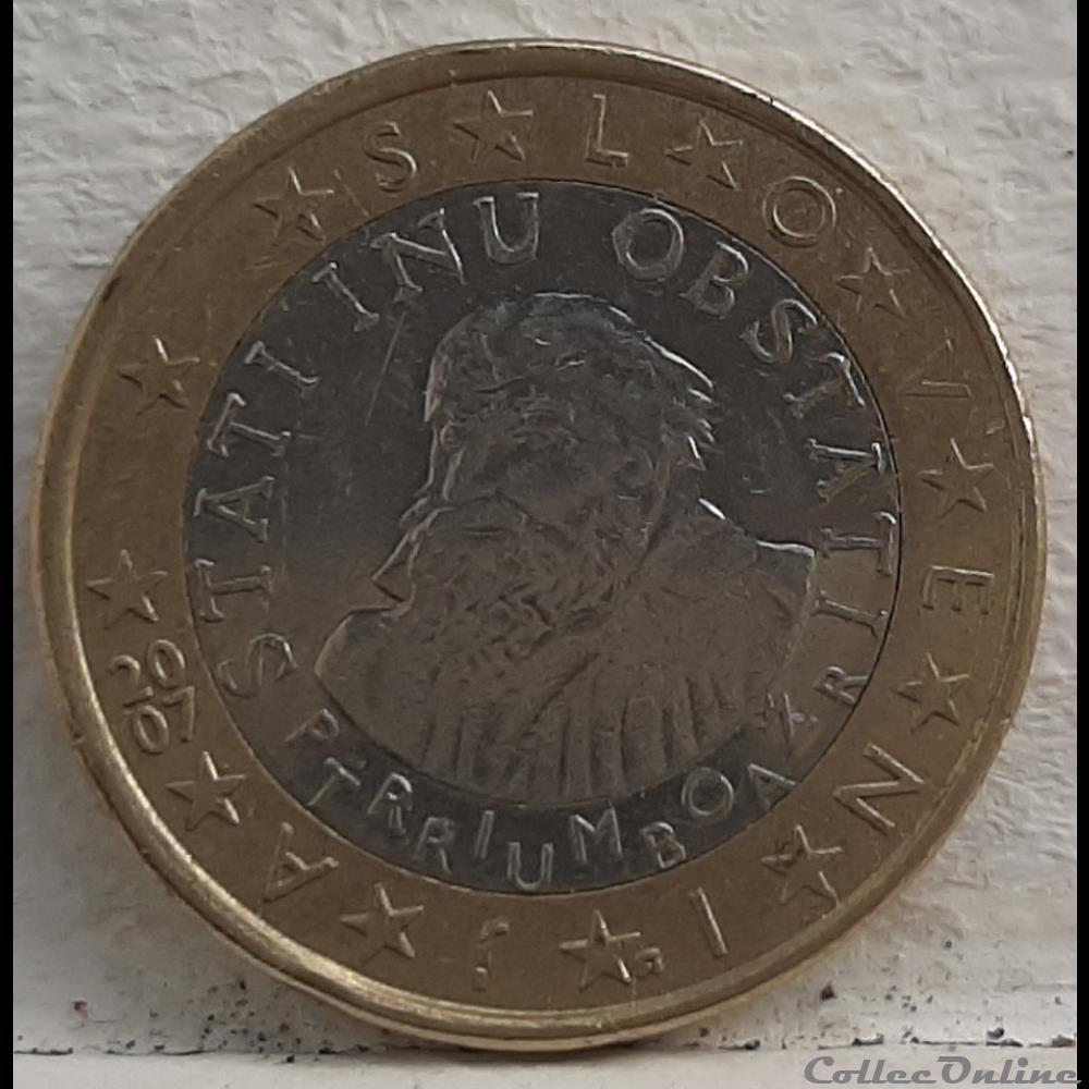 monnaie a slovenie 2007 1 euro