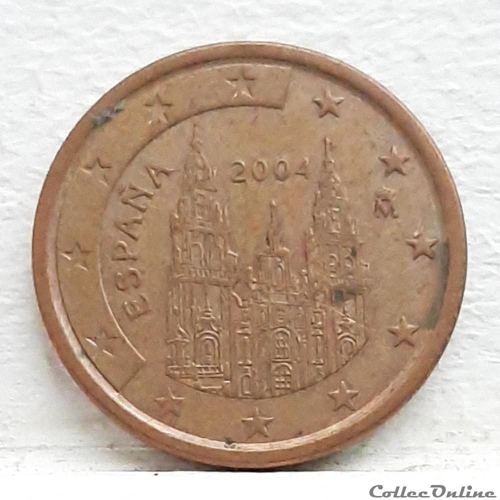 monnaie euro espagne 2004 5 cents