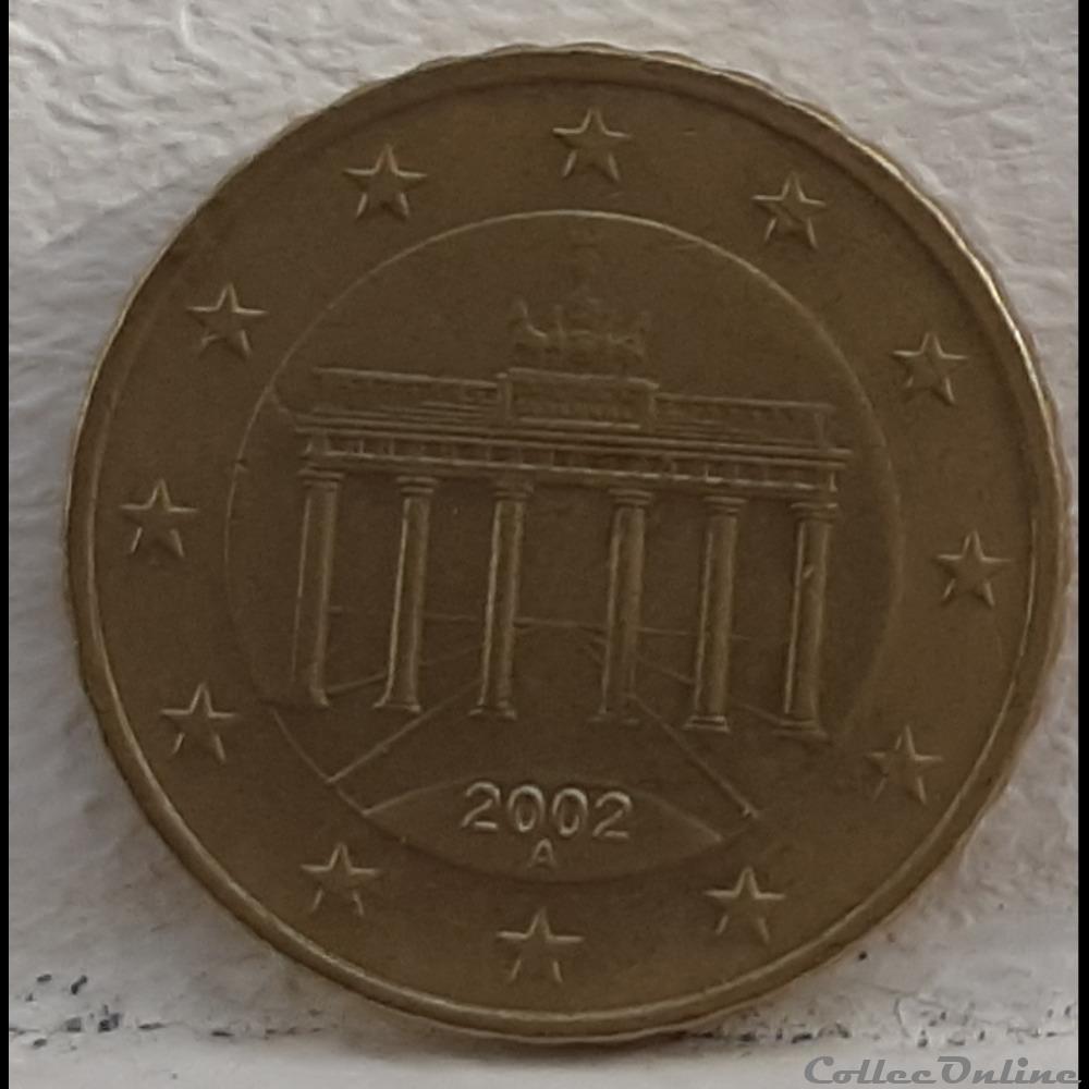 monnaie euro allemagne 2002 a 10 cents