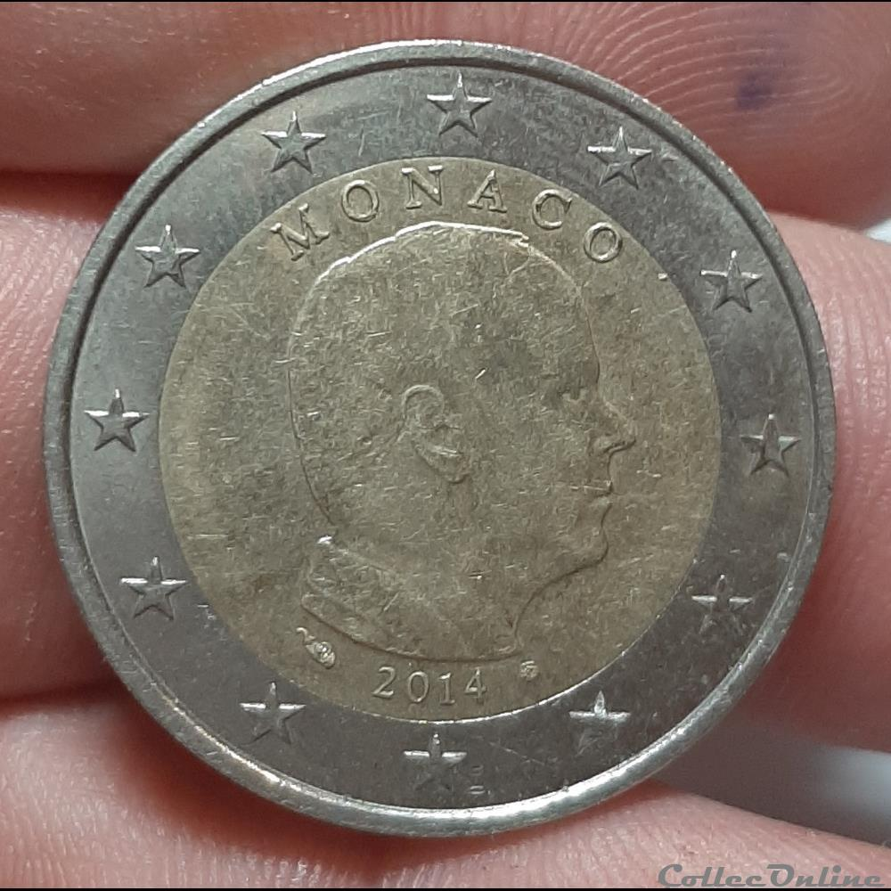 monnaie monaco 2014 2 euros