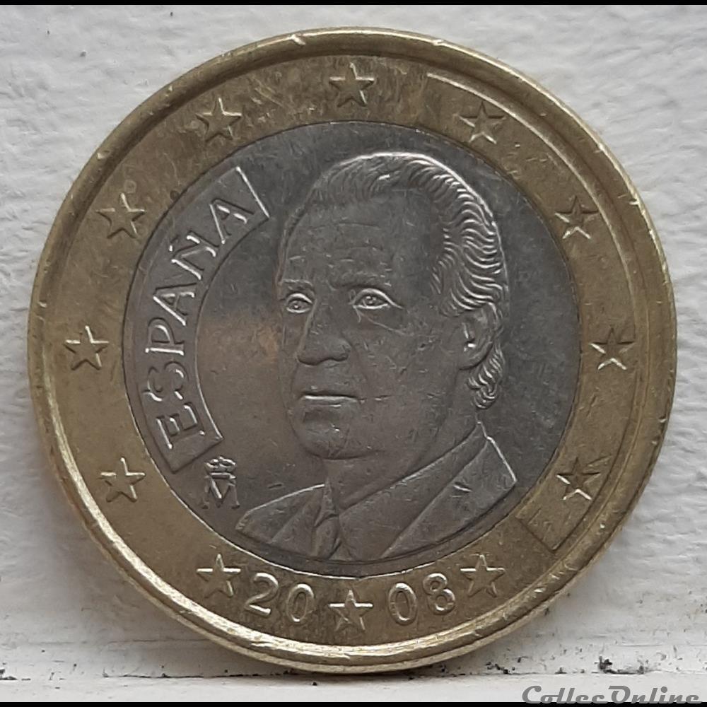 monnaie espagne 2008 1 euro