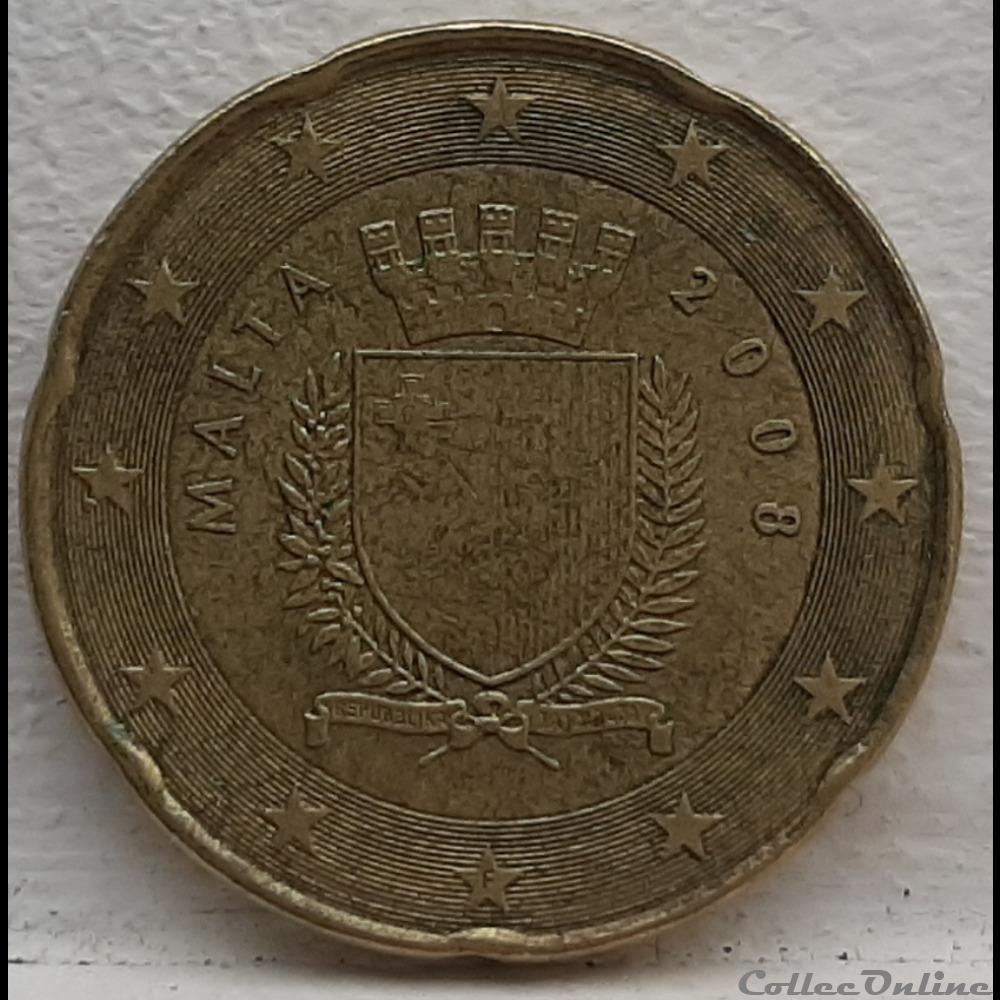 monnaie euro malte 2008 20 cents