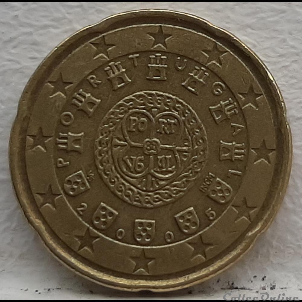 monnaie euro portugal 2005 20 cents
