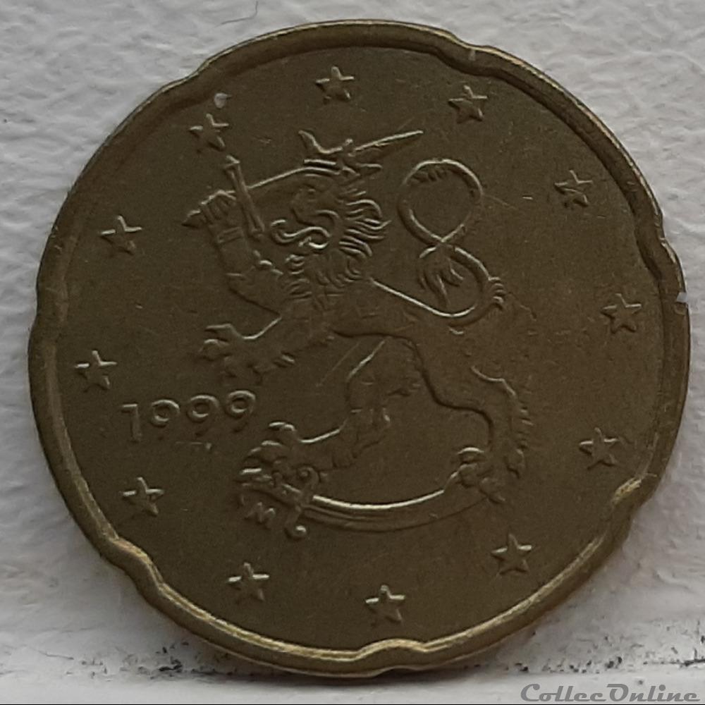 monnaie euro finlande 1999 20 cents
