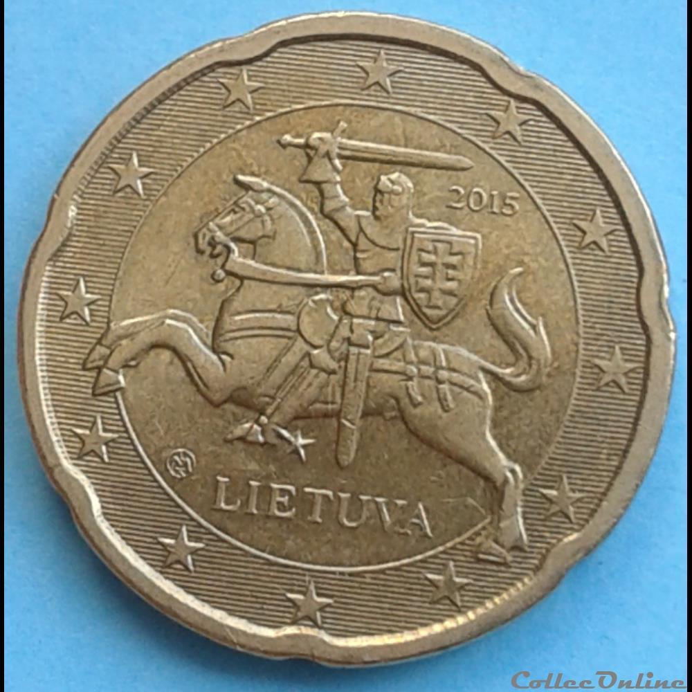 monnaie euro lituanie 2015 20 cents