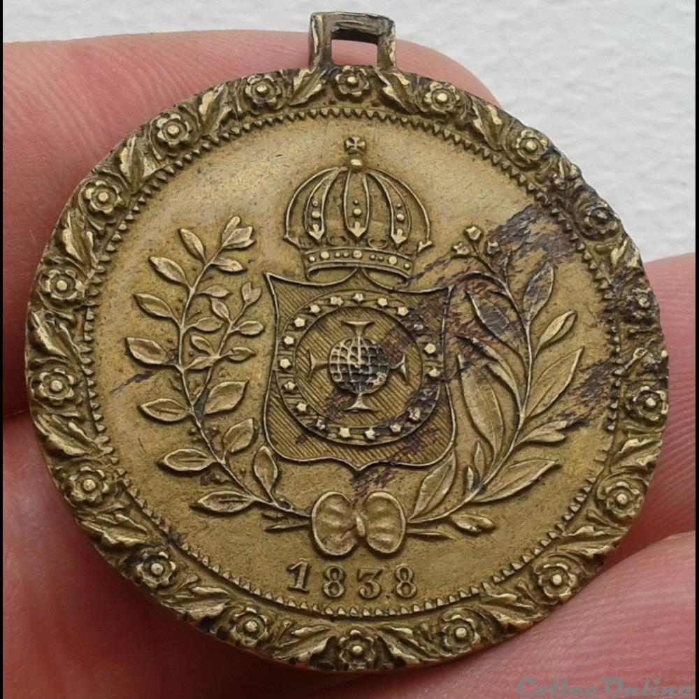 bresil belgique medaille petrus ii