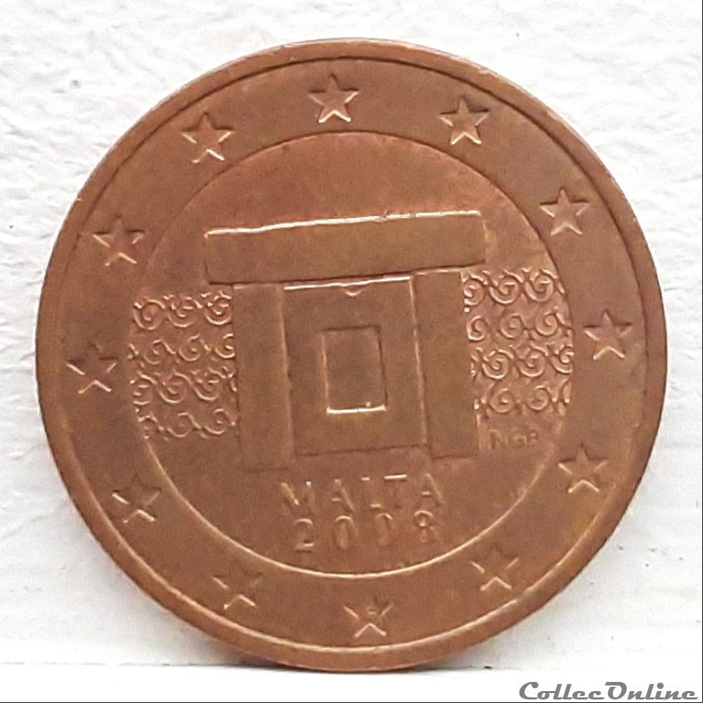 monnaie euro malte 2008 2 cents
