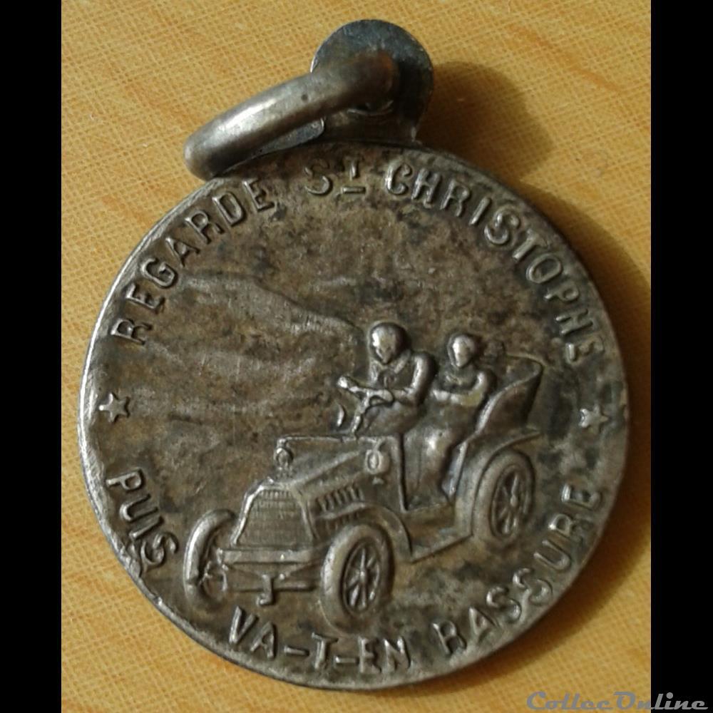 belgique medaille religieuse st christophe 1