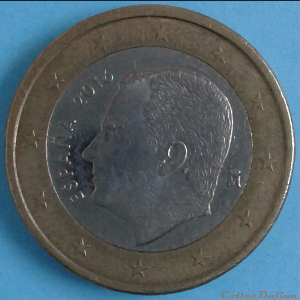 monnaie espagne 2016 1 euro