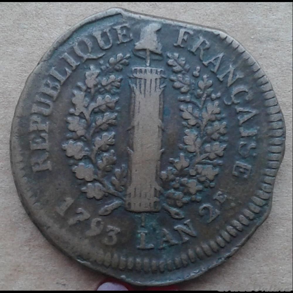 monnaie france moderne 1793 5 sols