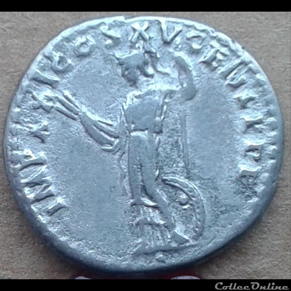 monnaie antique romaine domitien denier athena 90
