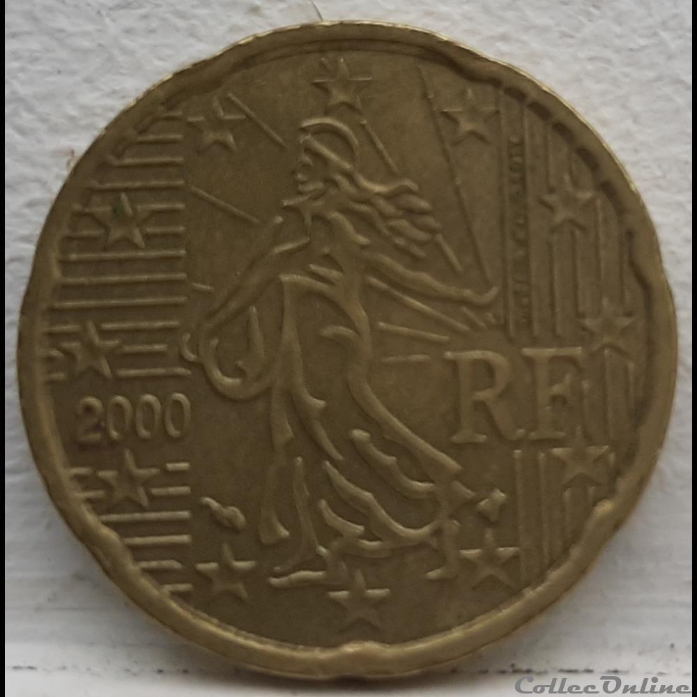monnaie euro france 2000 20 cents