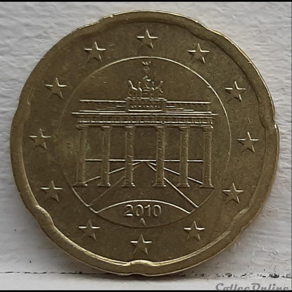 monnaie euro allemagne 2010 a 20 cents